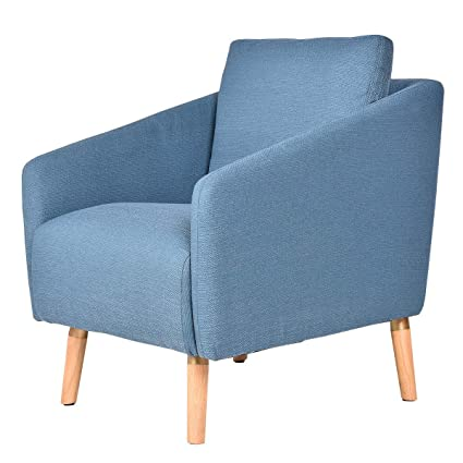 Amazon.com : Blue Accent Leisure Chair Arm Chair Single Sofa ...