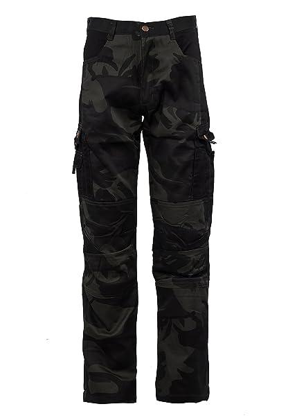 Stenso Kamo® - Pantaloni di carico in Stile Camouflage - Uomo - Nero  Amazon .it  Abbigliamento 0335936525d
