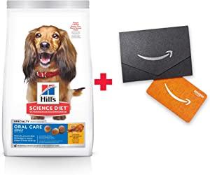Hill's Science Diet Dry Dog Food, Adult Oral Care for Dental Health Dog Food, Chicken Rice & Barley Recipe
