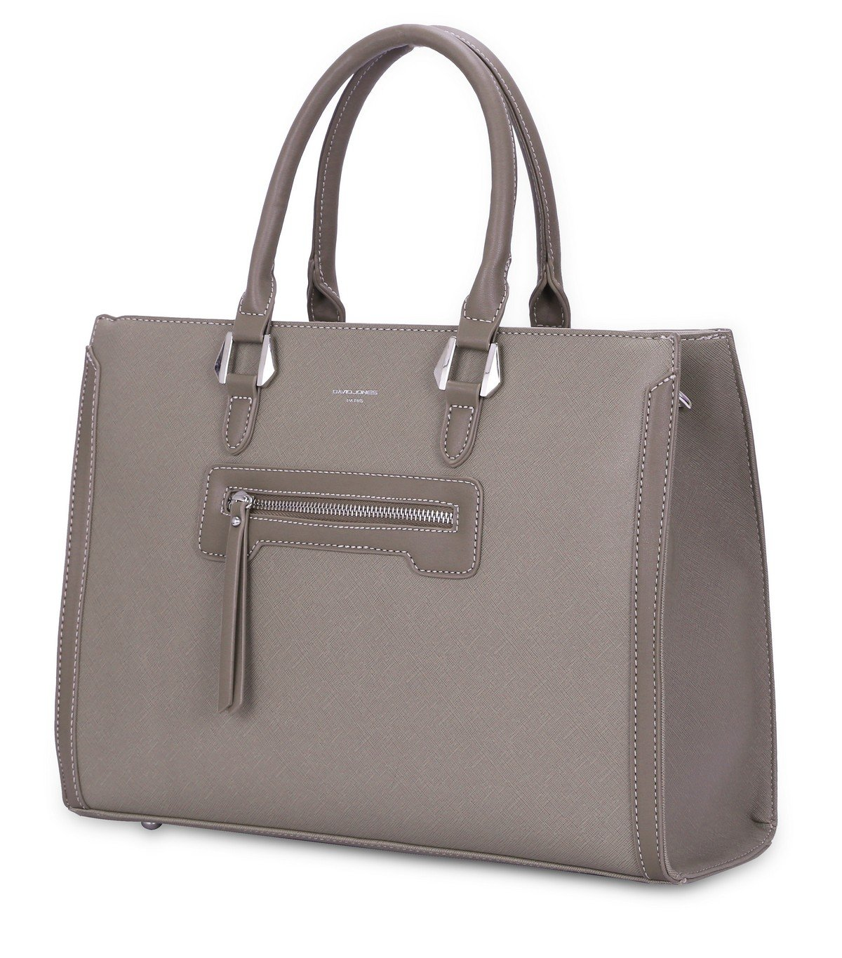 bfc9334d6e David Jones - Grand Sac à Main Femme - Cabas Fourre-Tout Cuir PU Rigide