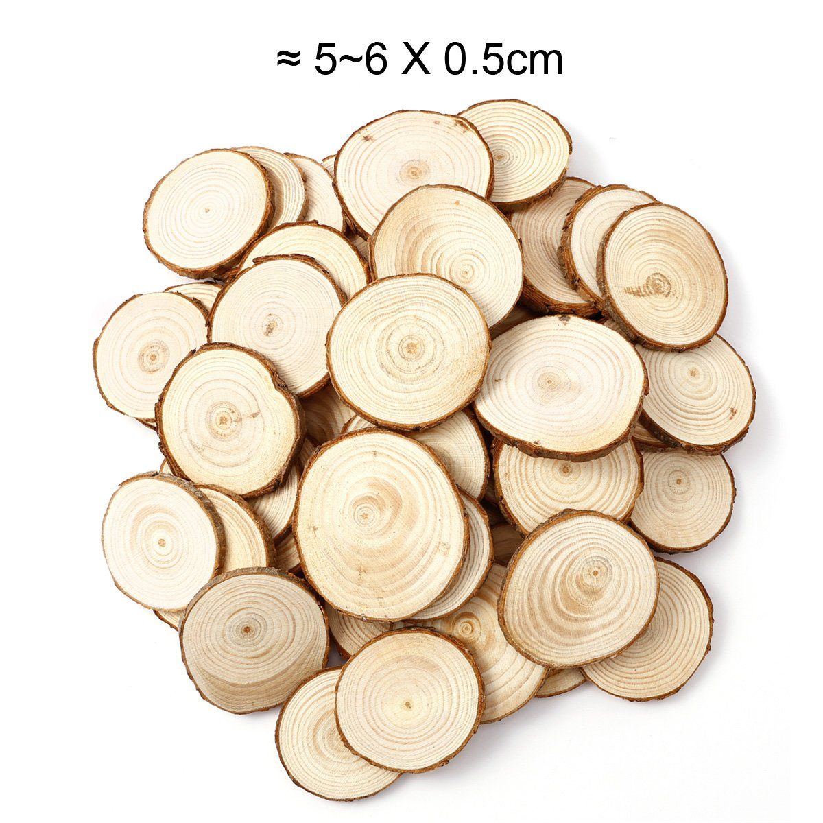 Amazon.com: 50x Natural Wood Pine Tree Slice Disc Wedding ...