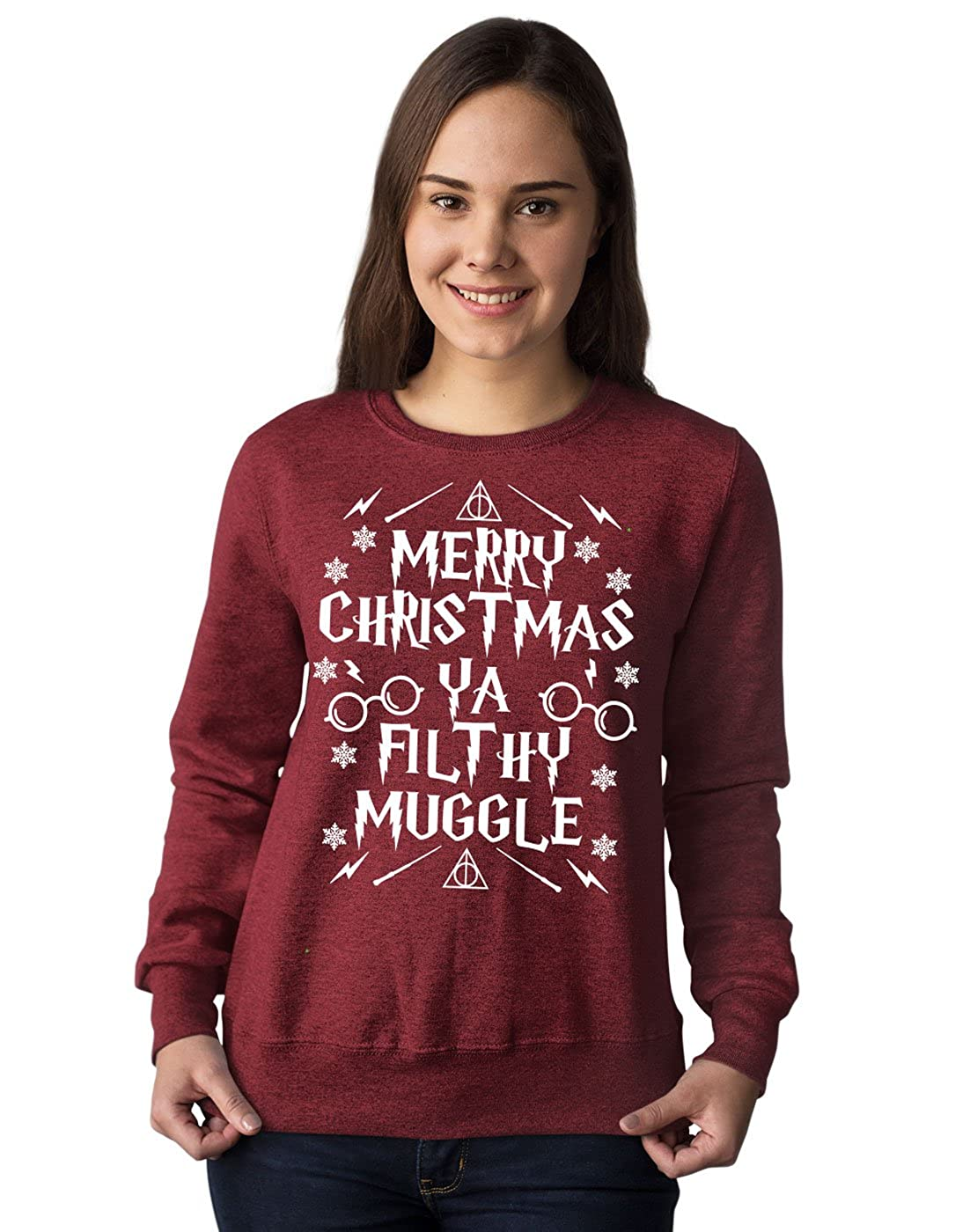 861d3403 Platform9Co Merry Christmas Ya Filthy Muggle Jumper, Harry Potter Mashup  Sweatshirt: Amazon.co.uk: Clothing