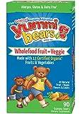 Yummi Bears Wholefood and Antioxidants Supplement for Kids, 90 Gummy Bears