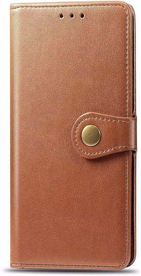 Funda para Huawei P40 Lite Funda Libro, Cartera Estuche Antigolpes Golpes de Cuero con Libro de Cuero Flip Case, Carcasa PU Leather con TPU Silicona Case Interna Suave Cierre Magnético marrón: Amazon.es: