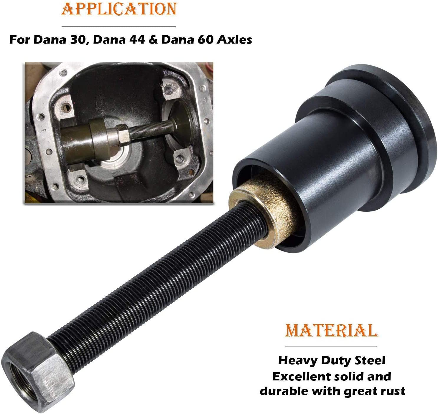 Inner Axle Side Seal Installation Tool and MG21103 Front Axle Tube Seal for Dana 30 Dana 44 /& Dana 60 Axles Front Differentials