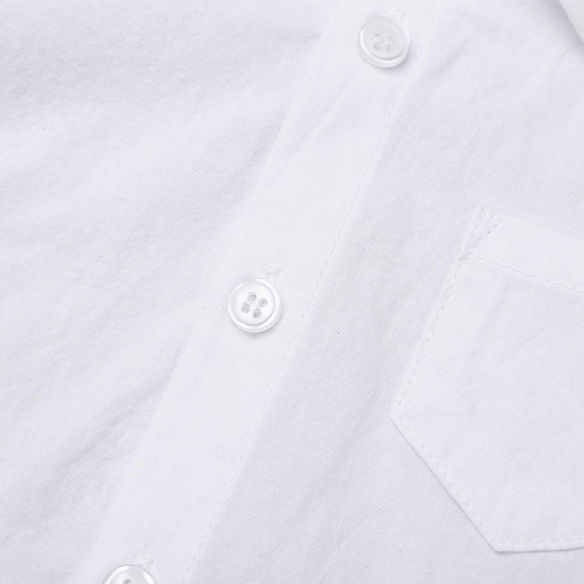 YiZYiF Unisex Baby Jungen M/ädchen Hemdbody Baumwolle Kurzarm Strampler mit Kragen Bodysuit Trachtenhemd Hochzeit Smoking Gentleman Outfit