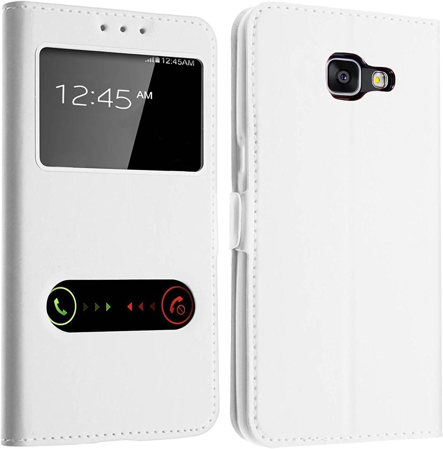 Gemtoo® Optimus-Cover Estuche con Ventana para Samsung Galaxy Bianco Galaxy A5 (2016): Amazon.es: Informática