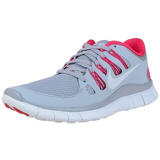 Nike Women's Free 5.0\+ Running Shoe,Wolf Grey/White/Pink Force