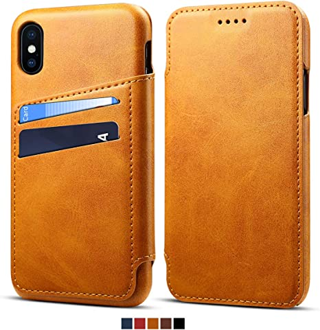 Cover Per iPhone XS MAX XR 6s 7 8 Flip portafoglio custodia in