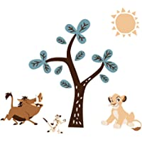 Lambs & Ivy Disney Baby Lion King Adventure Tree with Simba/Timon/Pumbaa Wall Decals/Stickers