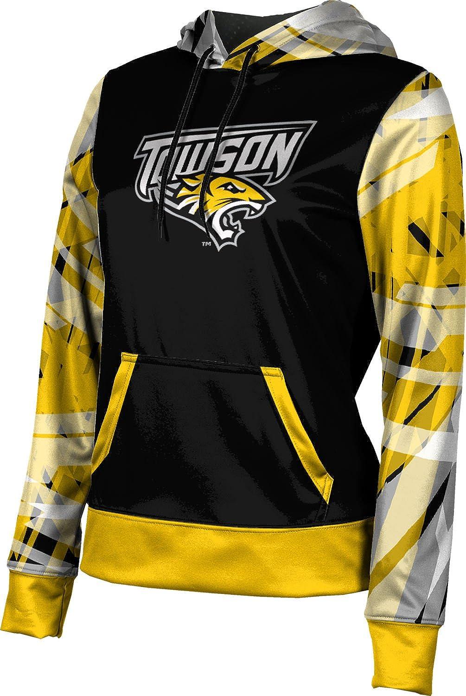 School Spirit Sweatshirt Towson University Mens Pullover Hoodie Brushed