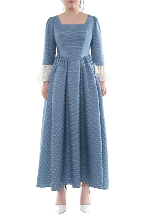 Cottagecore Dresses Aesthetic, Granny, Vintage ROLECOS Pioneer Women Costume Floral Prairie Dress Deluxe Colonial Dress Laura Ingalls Costume $35.99 AT vintagedancer.com