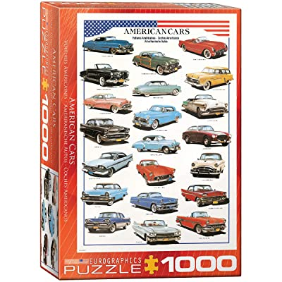 EuroGraphics American Cars of The Fifties 1000 Piece Puzzle: Toys & Games