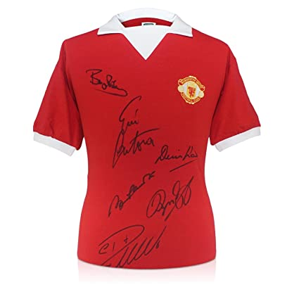 reputable site 1add2 8b08f Manchester Utd Shirt Signed By Cristiano Ronaldo, Bobby ...