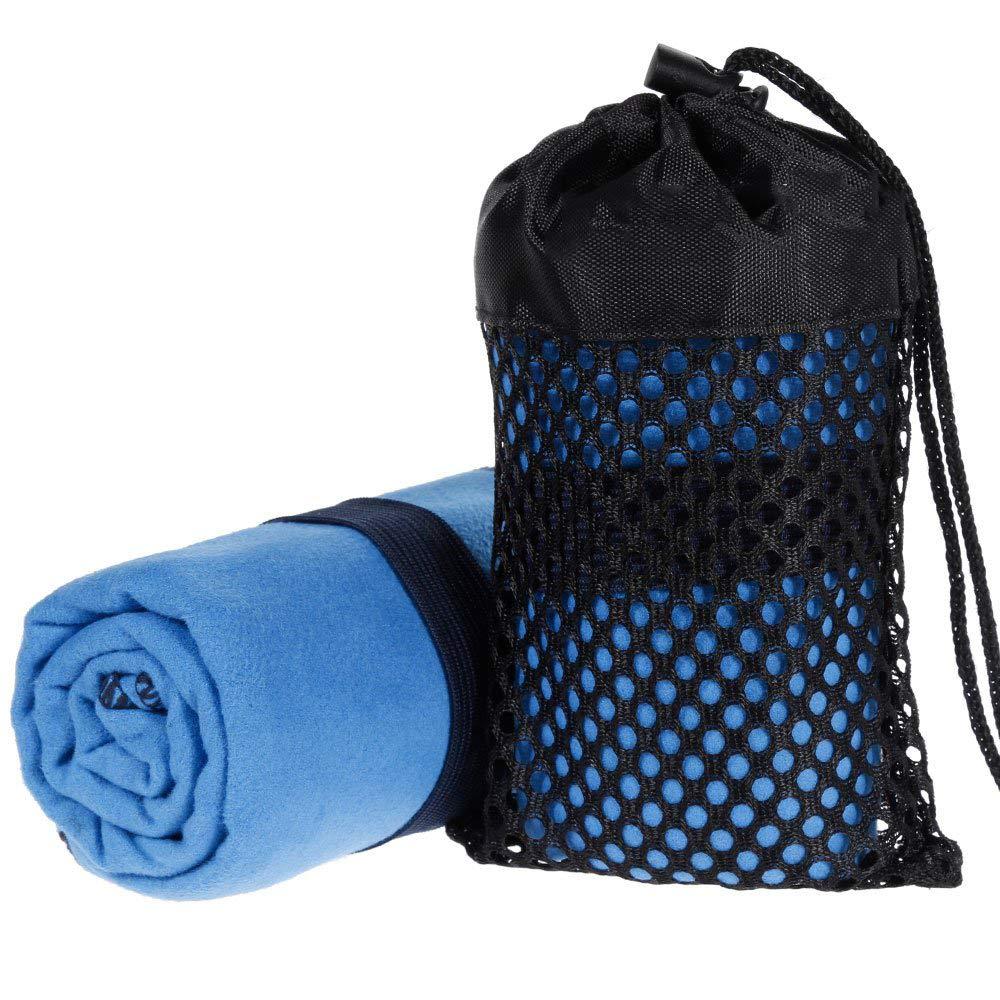 LLLLDDLLLDM Microfibre Towel,Quick-drying Microfiber Travel Towel Small Towel for Yoga,Sports,Outdoor,Trekking blue 40x80cm