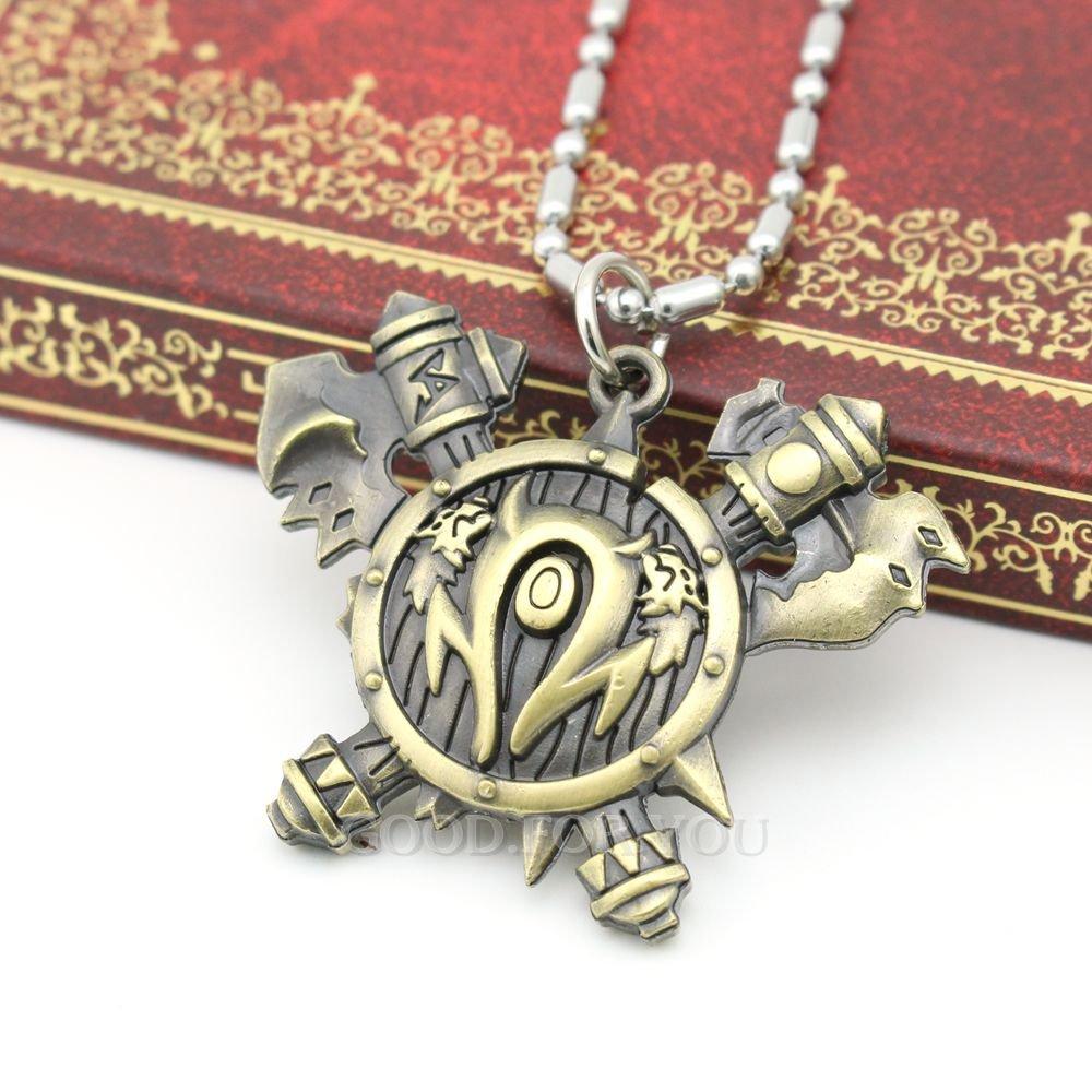 c21445a1b9cf WOW World of Warcraft Orcos Horde todas las clases Símbolo AX Collar con Colgante  libre 24