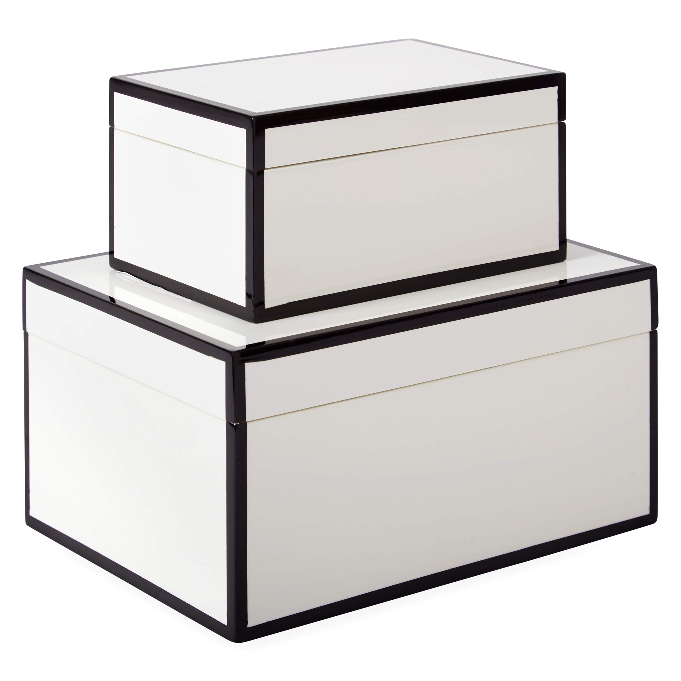 Now House by Jonathan Adler Decorative Accessories Stacking Boxes, White by Now House by Jonathan Adler