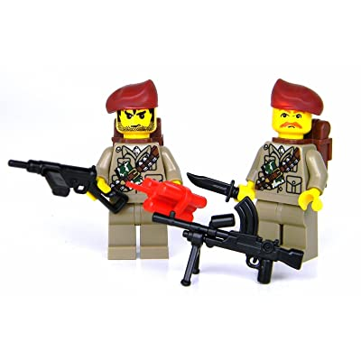 Battle Brick British SAS WW2 Soldiers (SKU6) Custom Minifigures: Toys & Games