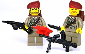 Battle Brick British SAS WW2 Soldiers (SKU6) Custom Minifigures
