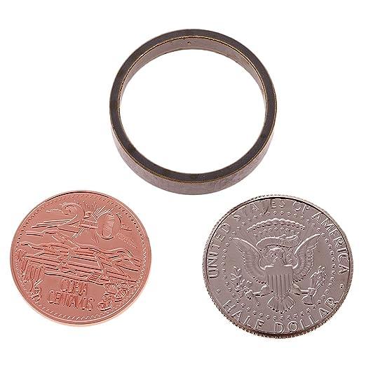 Sharplace Straße Magic Zaubertricks Ring Münzen Set Weihnachtsbedarf