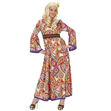 3b631f5ce72 NET TOYS Déguisement Hippie année 70 Robe à Fleurs S 36 38 Robe années 70