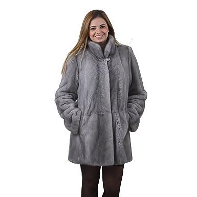 703726297f1d Saphire Mink fur coat Full Skin at Amazon Women's Coats Shop