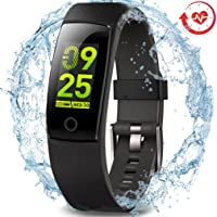 MorePro Waterproof Fitness Tracker, Color Screen Activity Tracker with Heart Rate Blood Pressure Monitor, Wearable Smart Bracelet Pedometer Watch with Sleep Monitor for Woman Men Kids