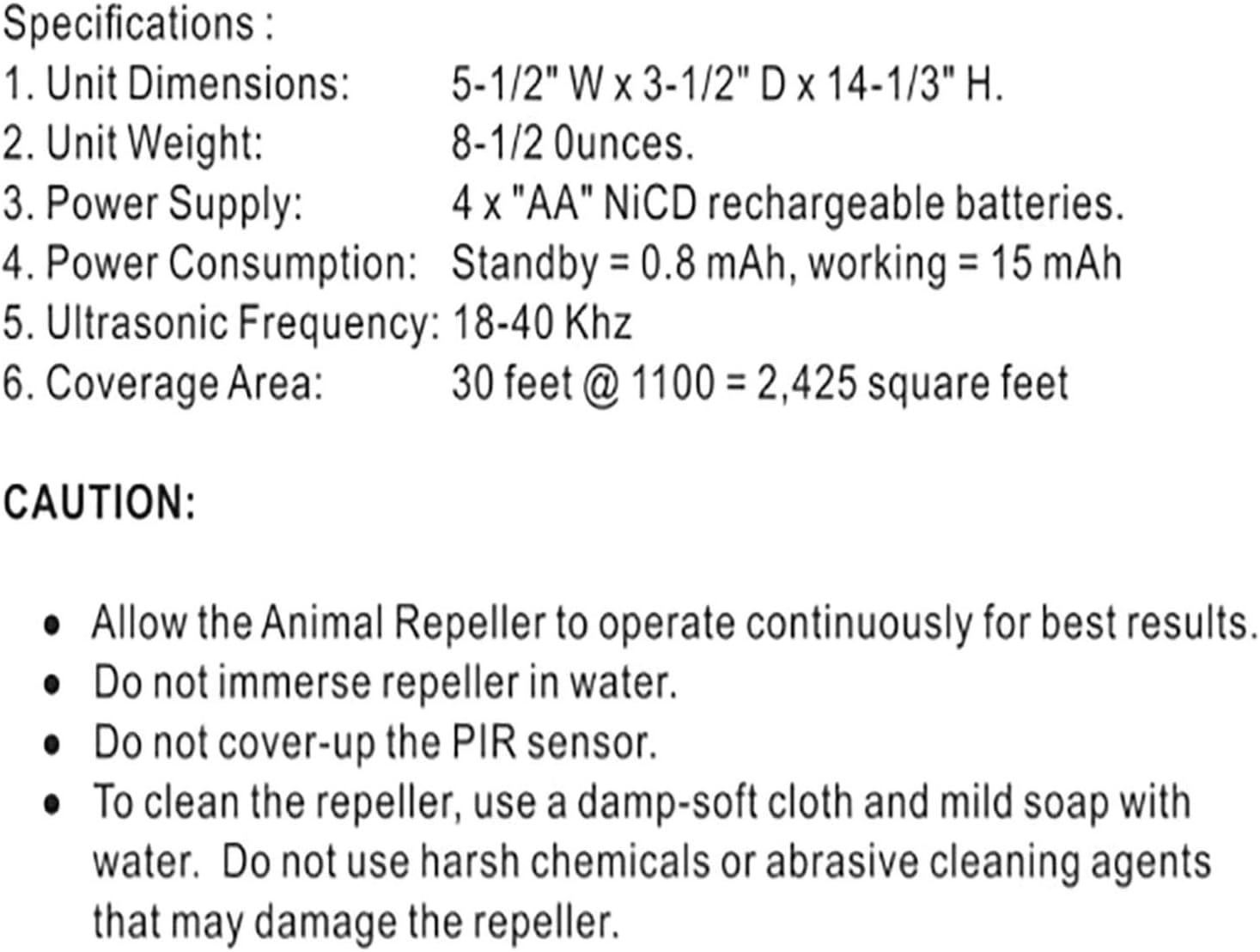 Zeen Animales solares Repelente de 1PC Activado Perro Impermeable del Gato Repelente de disuasi/ón energ/ía Solar Reflector ultras/ónico