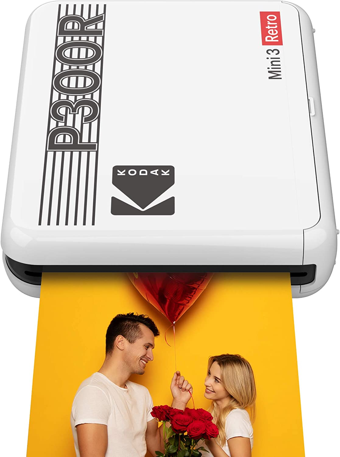 "Kodak Mini 3 Retro Portable Photo Printer, Compatible with iOS, Android & Bluetooth Devices, Real Photo: (3""x3""), 4Pass Technology & Laminating Process, Print Photos - White: Office Products"