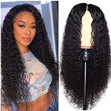 cheapest price coupon codes best online 13x6 Curly Lace Front Wig Wet and Wavy Deep Part Human Hair Wigs with Baby  Hair Lace Front Wigs for...