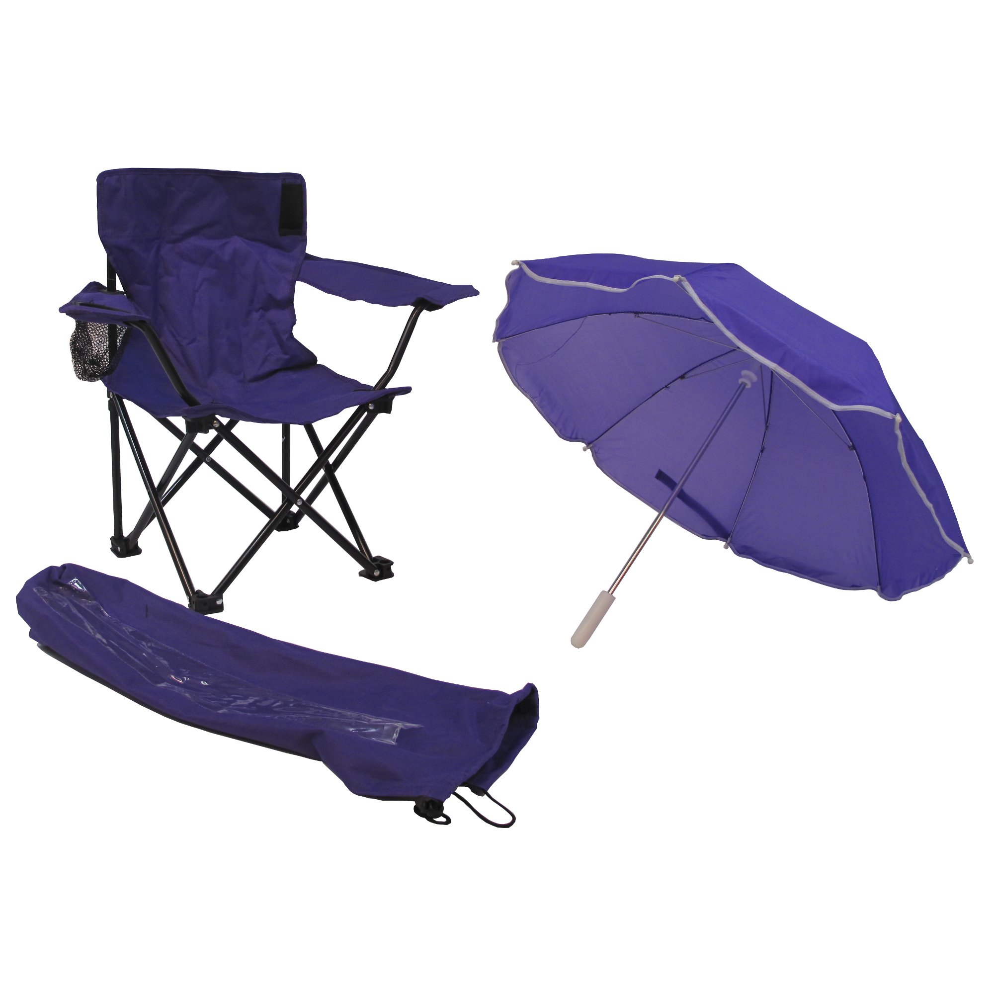 Redmon Beach Baby All-Season Umbrella Chair with Matching Shoulder Bag, Purple