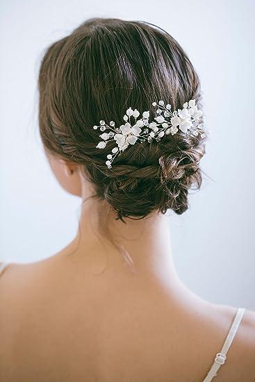 Fiori Bianchi Per Capelli.Kercisbeauty Ornamento Per Capelli Fatto A Mano Per Spose E