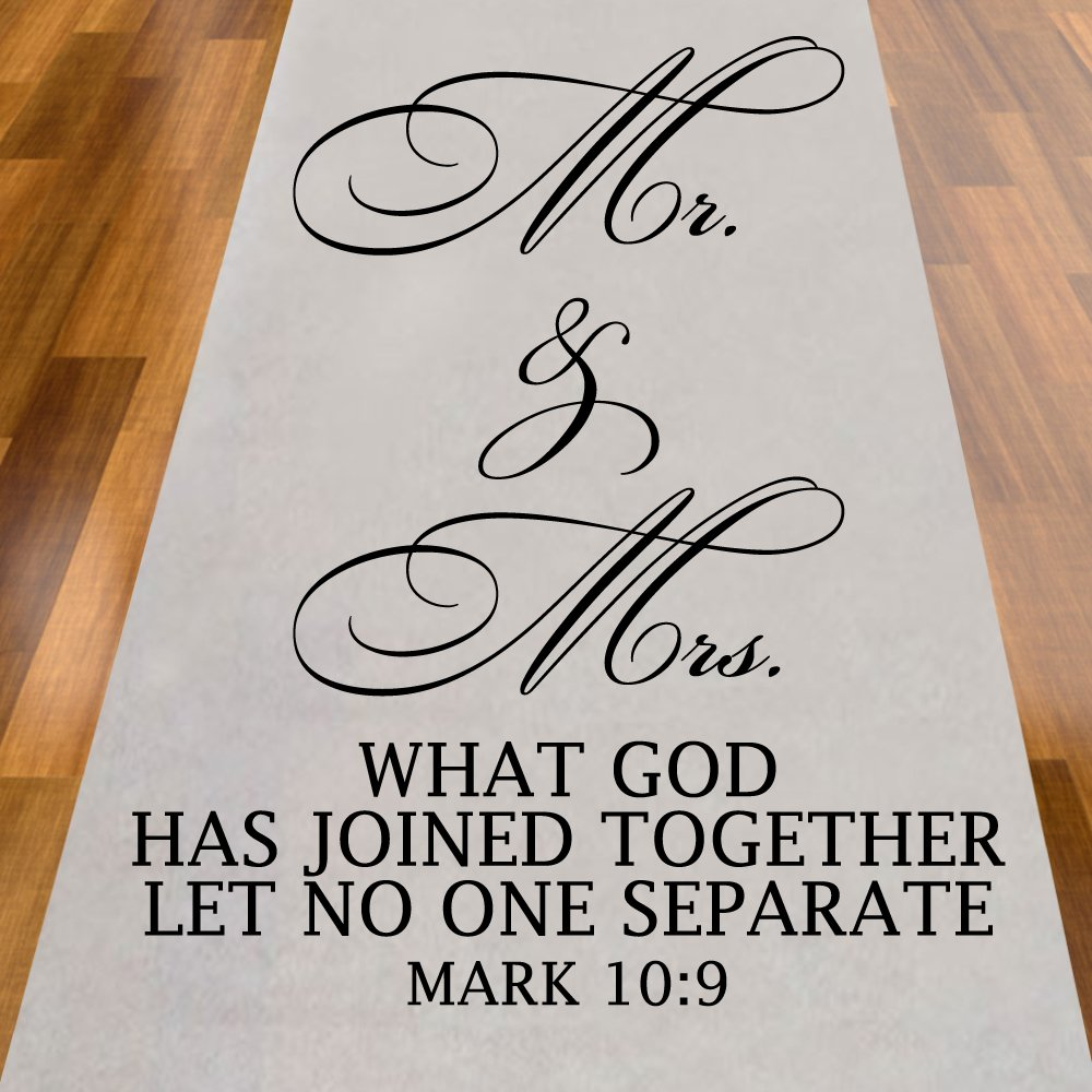 Mr. And Mrs. What God Has Joined Together Let No One Separate Aisle Runner