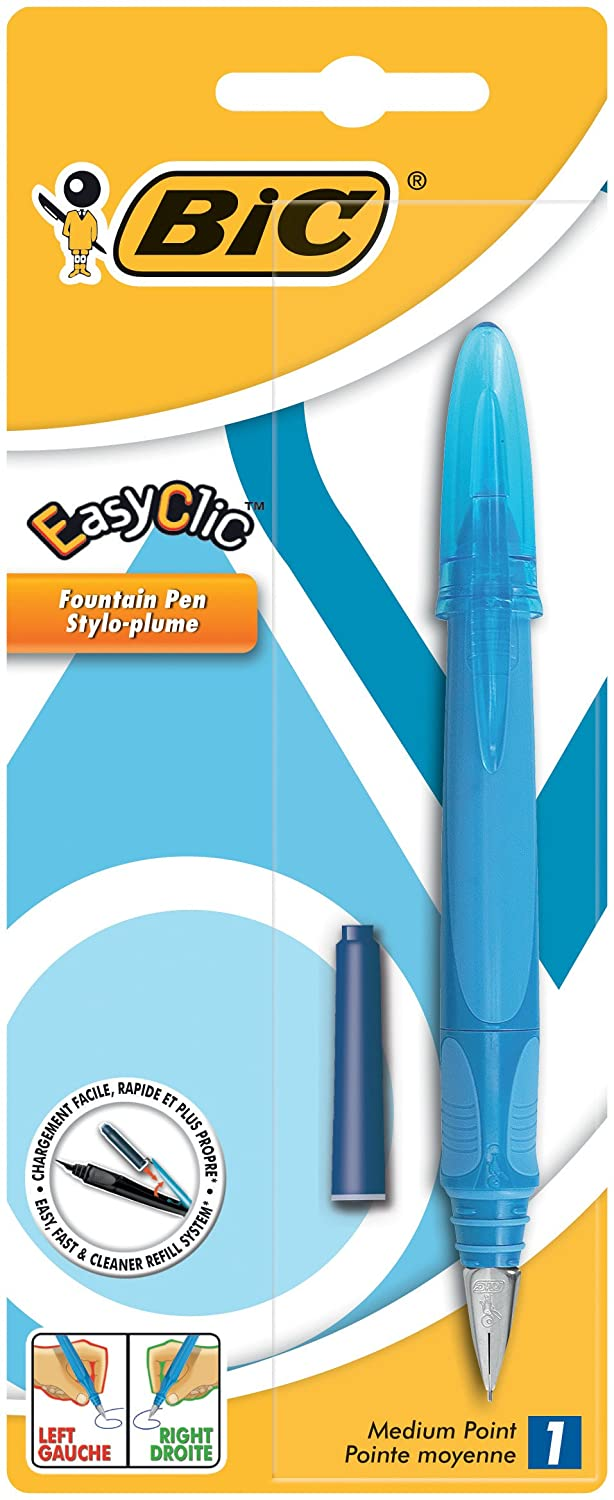 BIC EasyClic Standard Fountain Pen Blue Ink 1 Pack 8972801