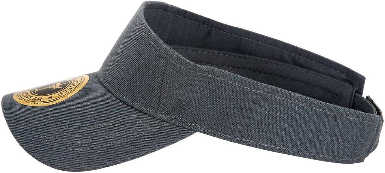 TOP HEADWEAR TopHeadwear Summer Adjustable Visor Charcoal 4 Pack