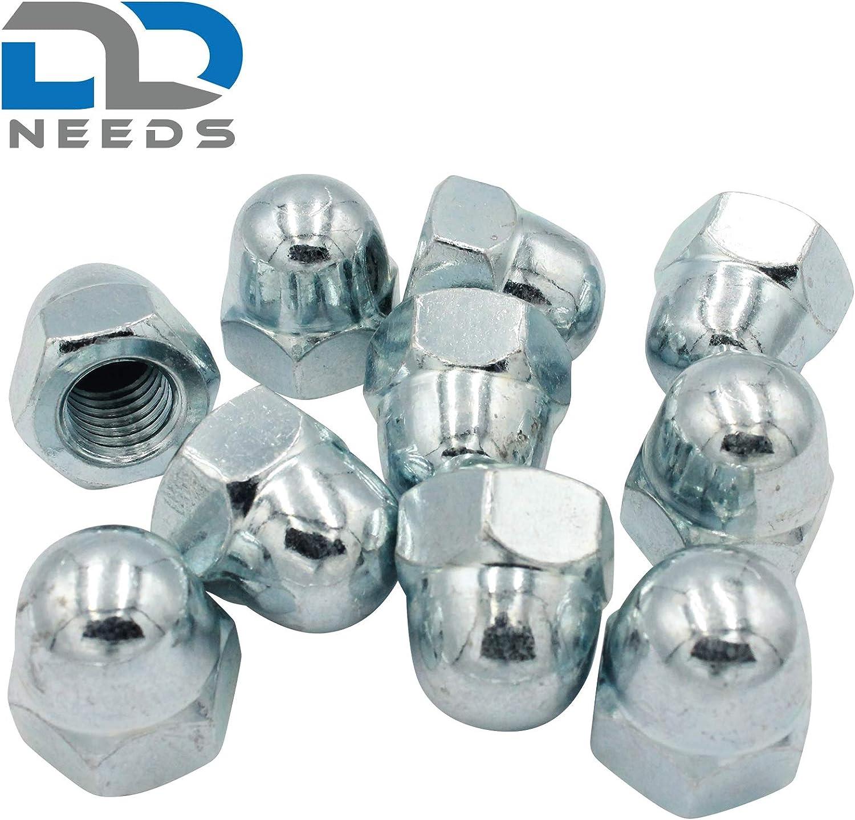 hohe Form Sechskant Hutmuttern D2D Ziermuttern galvanisch verzinkt G/üteklasse 6 DIN 1587 VPE: 50 St/ück Gr/ö/ße: M4