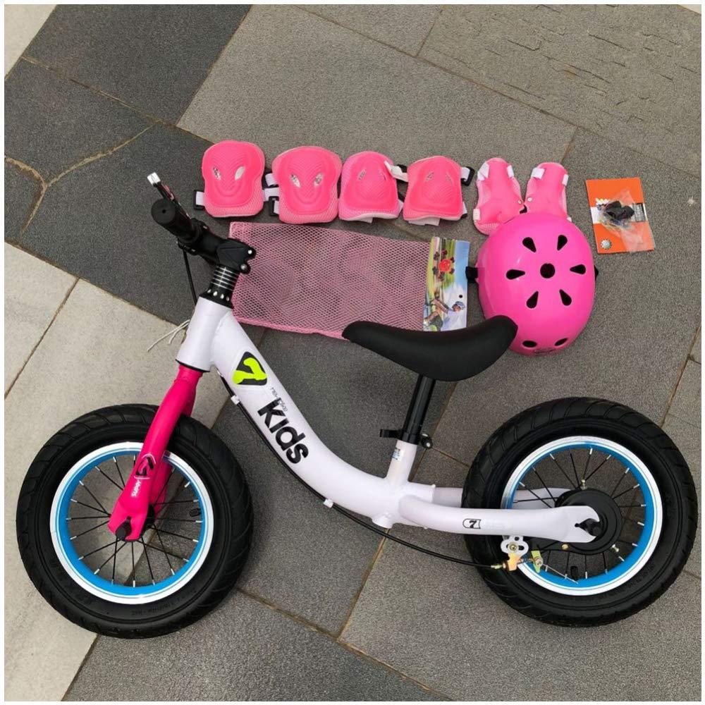 CHRISTMAD 12 & 039;& 039; Kid Balance Bike Kinder Laufen Fahrrad Kein Pedal Walking Fahrrad Verstellbare Sitzhöhe Und Ständer Für Alter 18 Monate Bis 5 Jahre,Weiß
