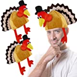 3 Pack Thanksgiving Turkey Hat Adult Kids Thanksgiving Party Costume Decorations Plush Turkey Hat