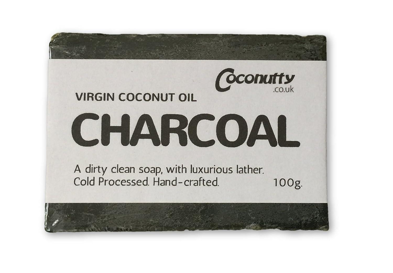 Carbón vegetal Virgen Aceite de Coco Barra de Jabón 100 g ...