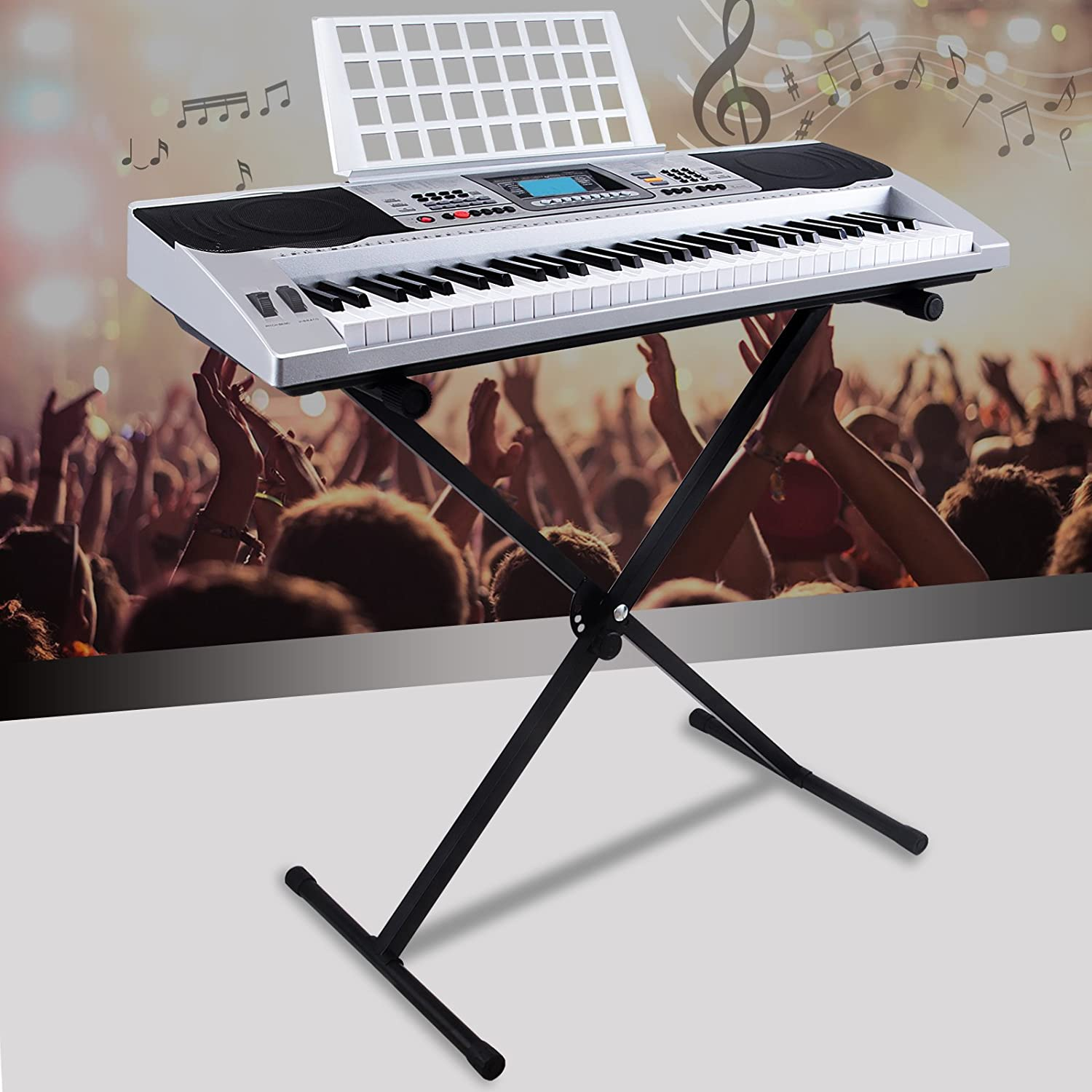 Electric Keyboard 61 Key Music Piano Portable Electronic Digital Paino mecor
