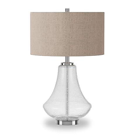 Amazon.com: Lámpara de mesa de cristal orgánico.: Home ...