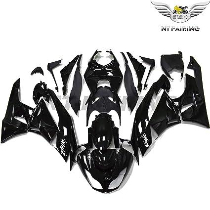NT FAIRING Fit for Kawasaki Ninja ZX6R 636 2009 2010 2011 2012 Glossy Black Injection Molded Fairings Kit Body Kit Bodywork Plastic Bodyframe
