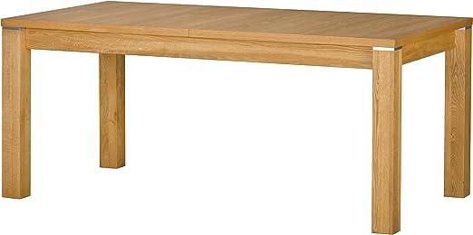 Furniture24 Tisch, Esstisch Torino ausziehbar, Eiche Massiv