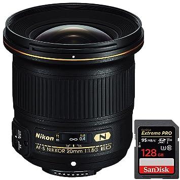 Nikon AF-Sa Nikkor 20 mm F/1.8G ED Lente (20051) + Sandisk ...