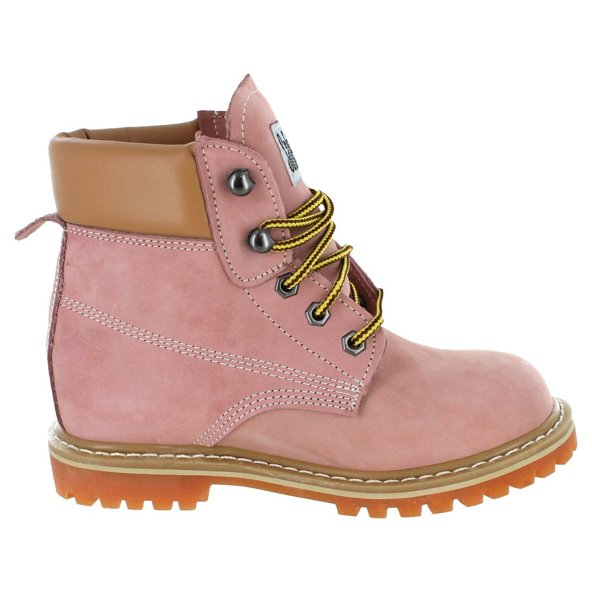 Safety Girl GS004-LTPNK-8M Safety Girl II Soft Toe Work Boots - Pink - 8M, English, Capacity, Volume, Leather, 8M, Pink () by Safety Girl (Image #2)
