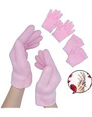 Sumifun Moisturizing Spa Gloves To Protect Manicures, Moisturizing Treatment Gel Jojoba Oil Vitamin 2 Pairs