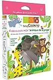 ScrapCooking 2055 Animaux de la Jungle Lot de 4 Découpoirs Inox Argent 21 x 16 x 2,7 cm