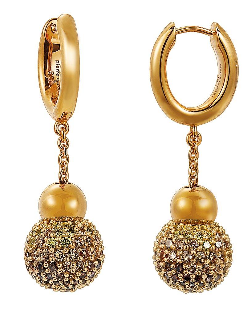 Pierre Cardin Women's Runion Creole Earrings 925Sterling Silver Rhodium Plated Glass Zirconia by Pierre Cardin