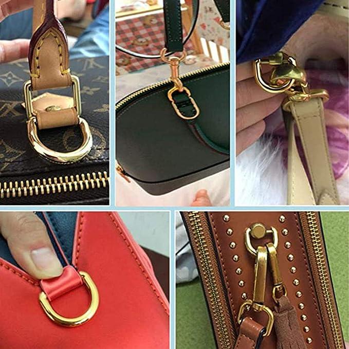 10 Stück Eetal D Ring D-Ringe Geldbörsen Schnallen für Kleidung Tasche FallLXUI