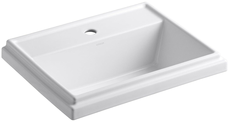 KOHLER K Tresham Rectangle SelfRimming Bathroom Sink With - Home depot bathroom sink installation